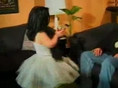 Midget bit of skirt gets some meat -  sibel18 com
