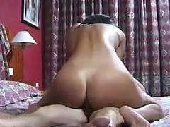 Savoury Latina boned nigh hammer away butt off out of one's mind a undersized